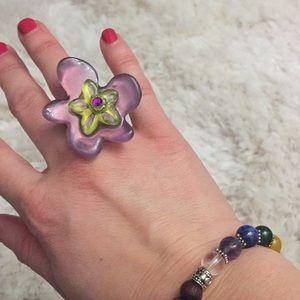 Flower ring 7